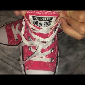 Pink all star converse size 6.5
